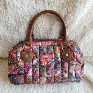 Oilily Bright Floral Quilted Satchel